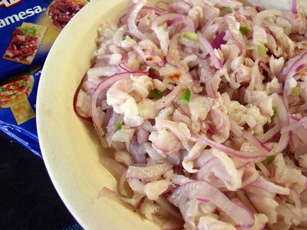 Tiritas, marinated fish strips