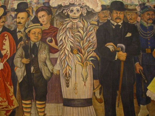 Day of the dead another day in paradise for Diego rivera mural paintings