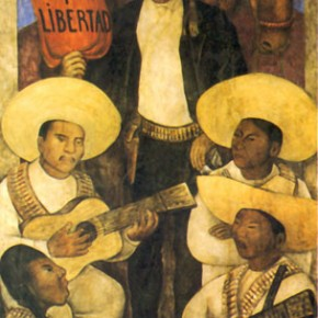 Detail from a Diego Rivera mural of Emiliano Zapata