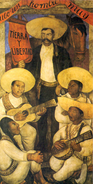 Detail from a diego rivera mural of emiliano zapata for Emiliano zapata mural