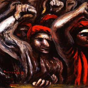 David Alfaro Siqueiros, Marcha Revolucionaria (Revolutionary March or Protest), 1935 (detail)
