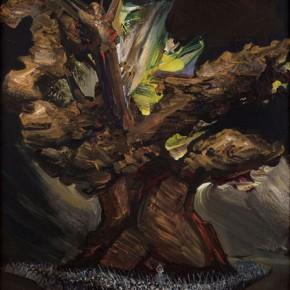 David Alfaro Siqueiros, El árbol de la noche triste, Estudio para mi mural de Chapultepec, Octubre de 1962 / Sad Night Tree, Study for Chapultepec Mural, October 1962