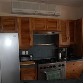Mini split unit in kitchen