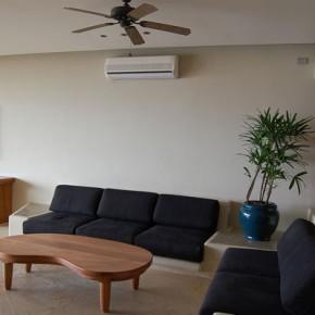 Mini split A/C unit in living room