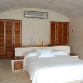 Mini split A/C unit in bedroom