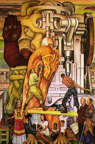 Unidad panamericana panel 3 pan american unity panel 3 for Diego rivera first mural