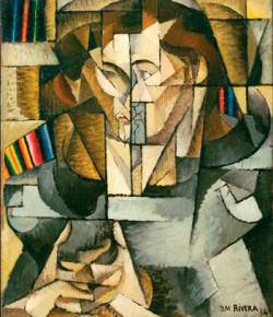 Cubist portrait called Retrato Jacques Lipschitz, by Diego Rivera, 1916