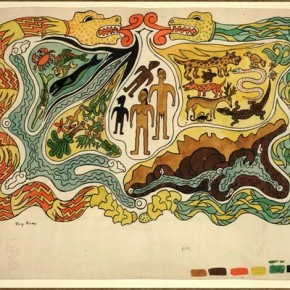The Creation. Illustration to Popol Vuh, by Diego Rivera, 1931