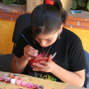 Artist at Work in Jacobo's Shop near Oaxaca.