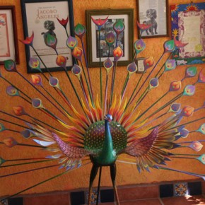 Peacock Alebrije at Ojeda's Shop in Tilcajete.