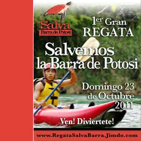 Kayak race celebrates Barra de Potosi, Oct 23