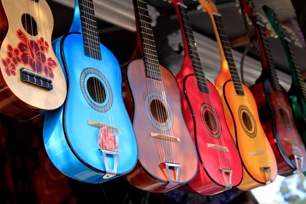 bright colorful guitars for sale another day in paradise. Black Bedroom Furniture Sets. Home Design Ideas
