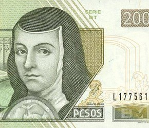 The colorful currency of Mexico honors history