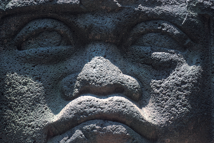 ART olmec head 2 detail g aldana 10x7